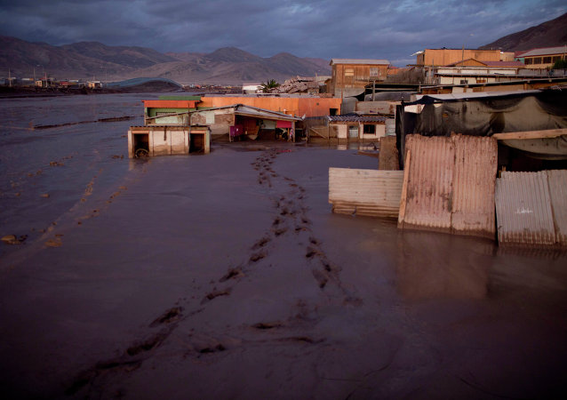 Homes are inundated in mud in Chanaral, Chile