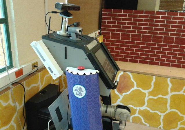 This robot, called Sabina, can learn through voice commands or demonstration.