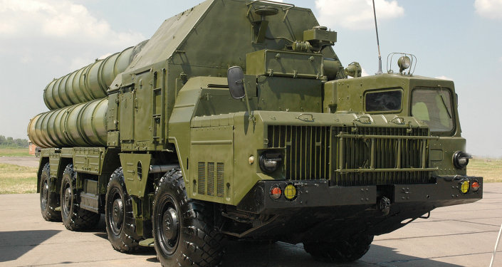 A Russian S-300 anti-aircraft missile system
