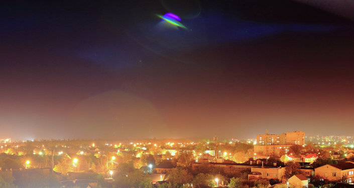 A UFO over a town