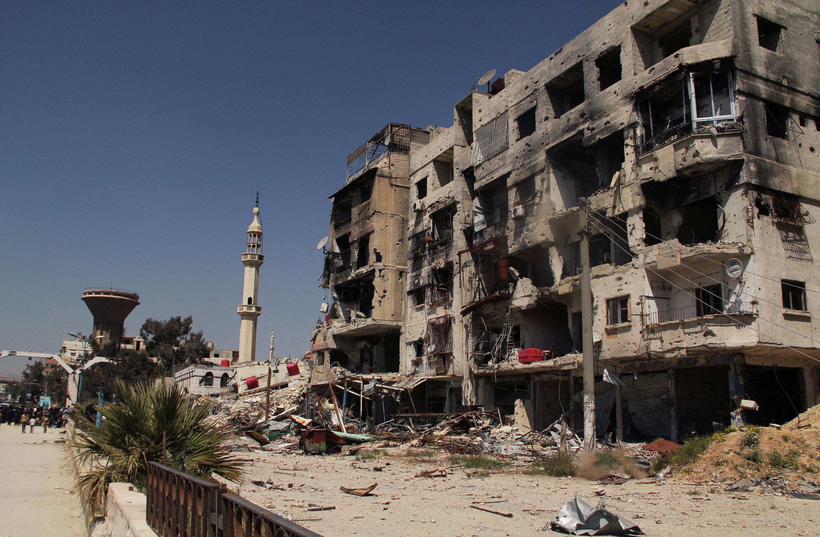 Yarmouk refugee camp in Damascus