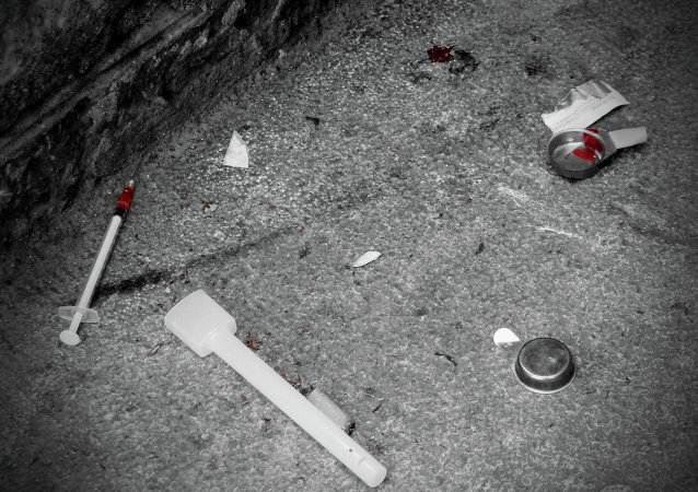 Heroin on the ground.