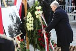 Jaroslaw Kaczynski at the funeral of his brother Lech, the former Polish president who perished in a plane crash in Smolensk, Russia in April, 2010.