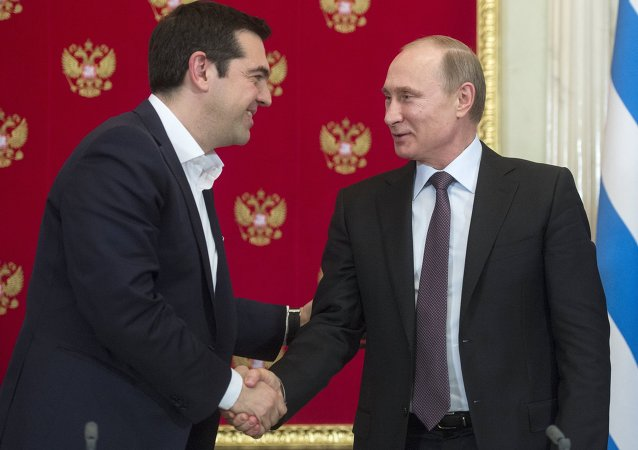 Vladimir Putin meets with Greek Prime Minister Alexis Tsipras