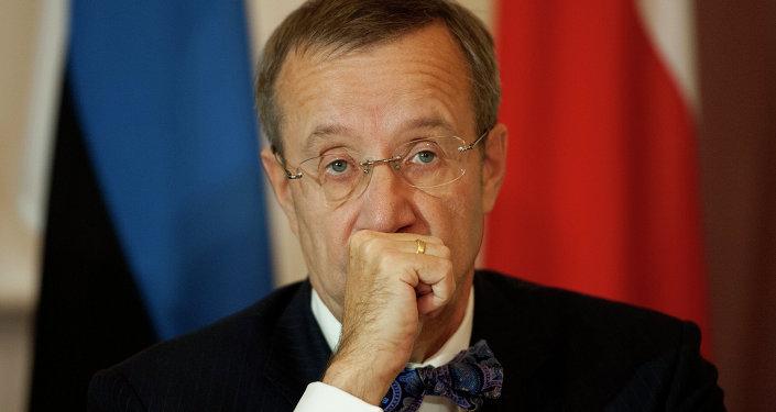 Estonia's President Toomas Hendrik Ilves