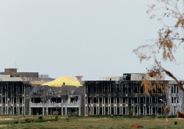The administration building at the University of Benghazi destroyed building is seen damaged after clashes between members of the Libyan pro-government forces, backed by the locals, and Shura Council of Libyan Revolutionaries, an alliance of former anti-Gaddafi rebels who have joined forces with Islamist group Ansar al-Sharia, in Benghazi March 16, 2015