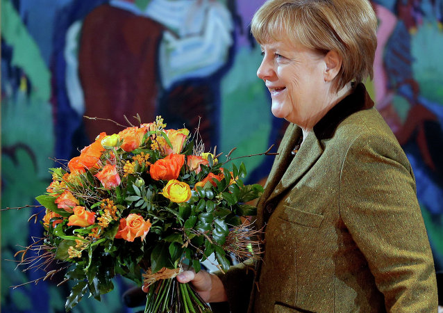 Angela Merkel (since Nov 22, 2005) is Germany's first woman Chancellor. In 2007, Merkel chaired the G8, the second woman after Margaret Thatcher to do so. Described as 'the de facto leader of the EU' she has been ranked as the world's second most powerful person by Forbes magazine in the past, the highest ranking ever for a woman.