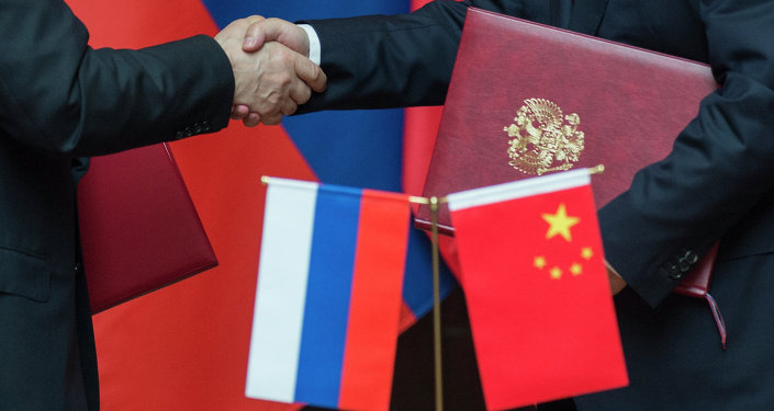 Russian and Chinese flags