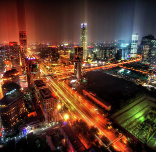 Downtown Beijing After Rain