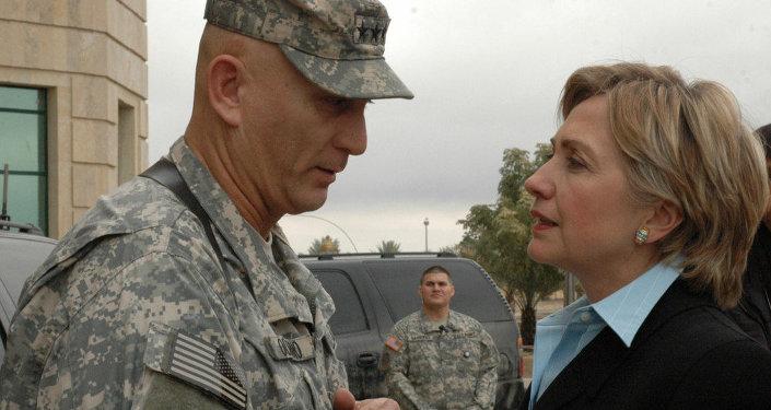 Iraq Clinton visit