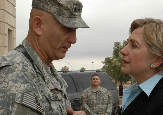 Iraq Clinton visit
