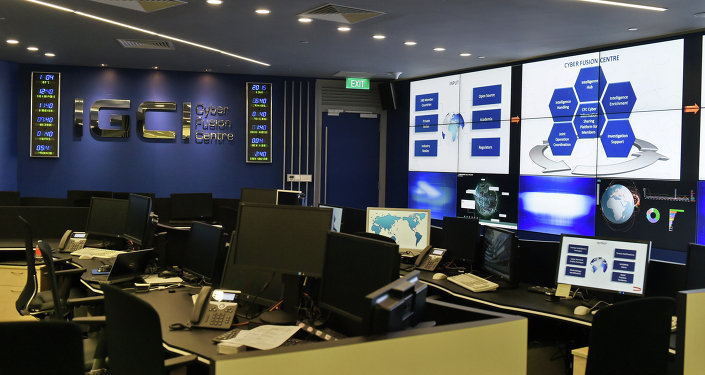An interior view of the Interpol Global Complex for Innovation (IGCI) cyber fusion centre at its newly built building is seen during the inauguration opening ceremony in Singapore on April 13, 2015