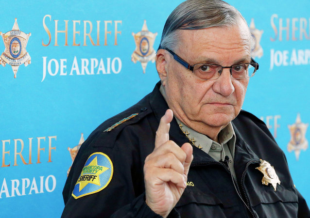 In this Dec. 18, 2013, file photo, Maricopa County Sheriff Joe Arpaio speaks at a news conference at Maricopa County Sheriff's Office Headquarters in Phoenix