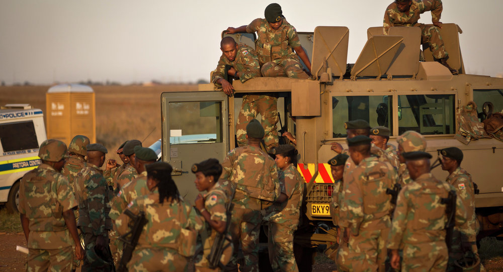 South African military personnel