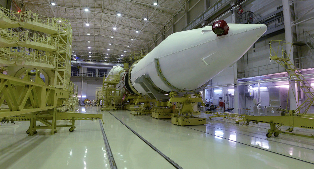 The assembly and testing hangar of the launching facility for the Angara rocket