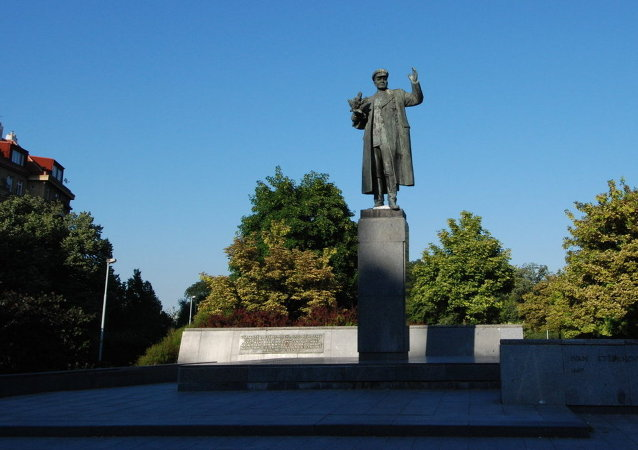 Ivan Konev monument in Prague