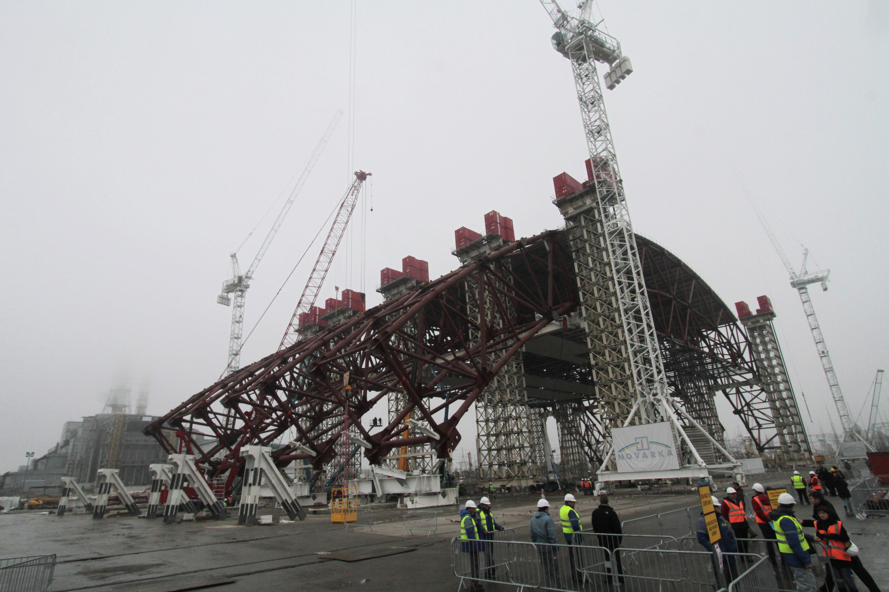 Completing first stage of New Safe Confinement project at Chernobyl Power Plant