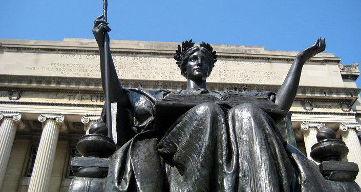 Columbia University - Alma Mater and Low Memorial Library