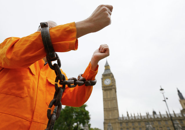 Britain Guantanamo protest
