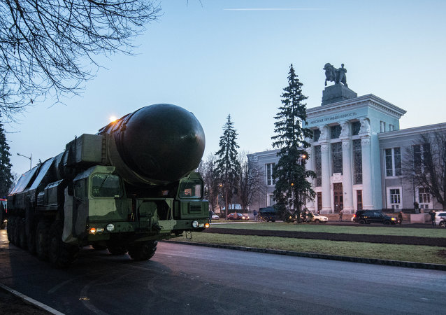 A Topol ICBM launcher at VDNKh