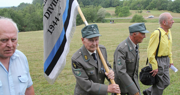 Nazi collaborators atrocious wwii war crimes revealed estonian veterans of 20th waffen grenadier division of ss 1st estonian meet in estonia publicscrutiny Images