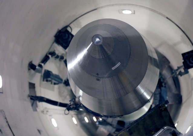Inert Minuteman 3 missile is seen in a training launch tube at Minot Air Force Base, (photo used for illustration purpose only)