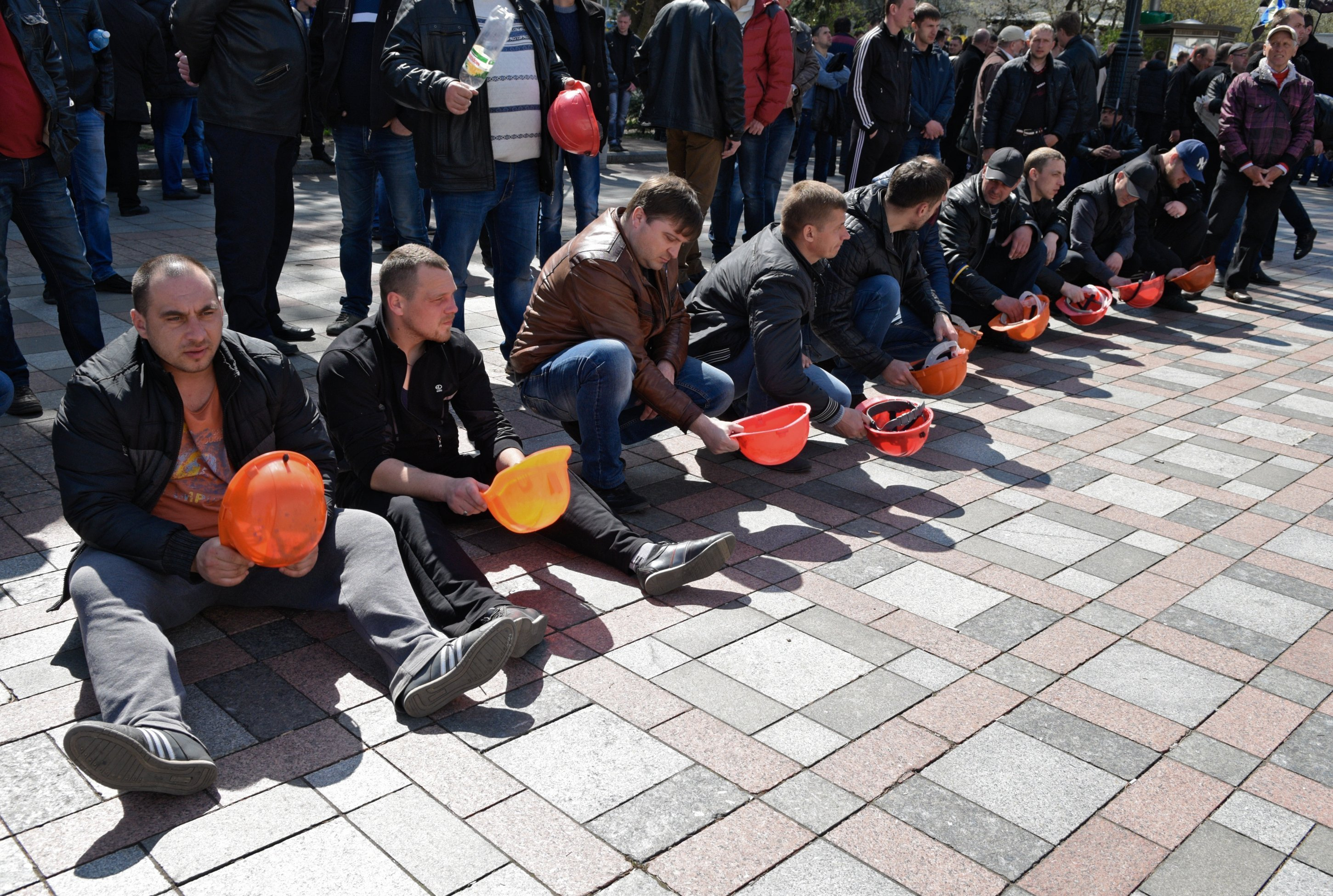 Miners' protests go on in Kiev