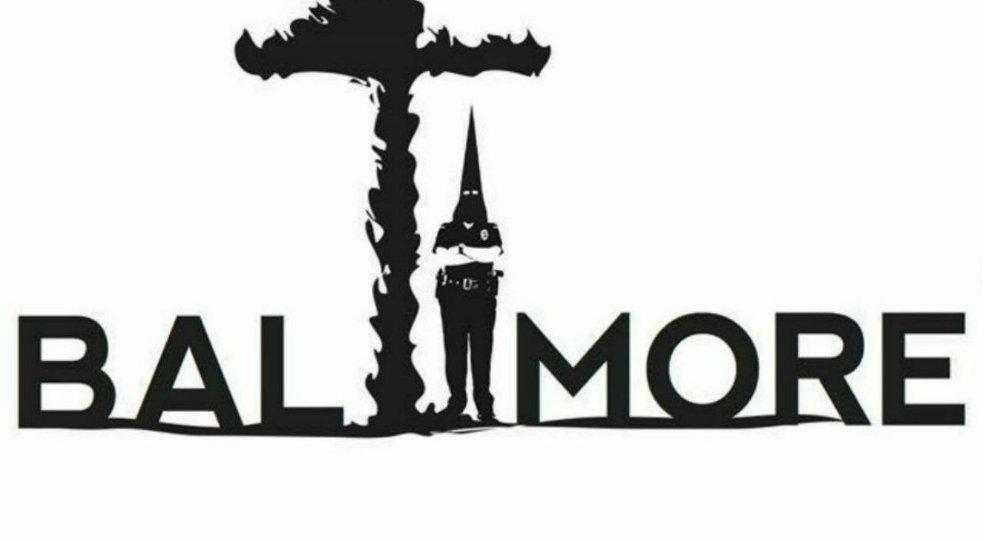 Khalid Albaih's cartoon on Baltimore following the death of Freddie Gray.
