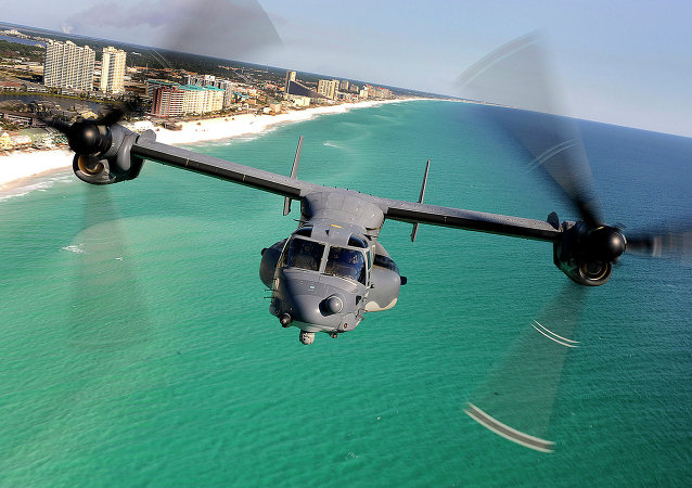 CV-22 Osprey Along the Coast