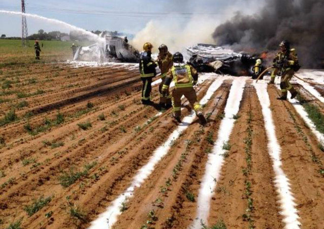 Plane crash near Seville, Spain