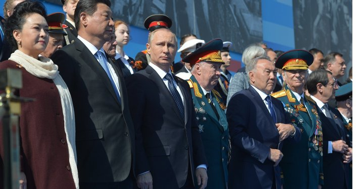 President Putin at military parade to mark 70th anniversary of Victory in 1941-1945 Great Patriotic War
