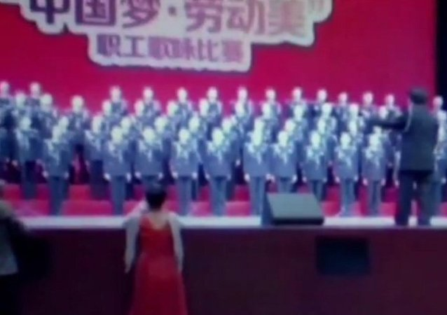Stage collapses under 80-person choir in China