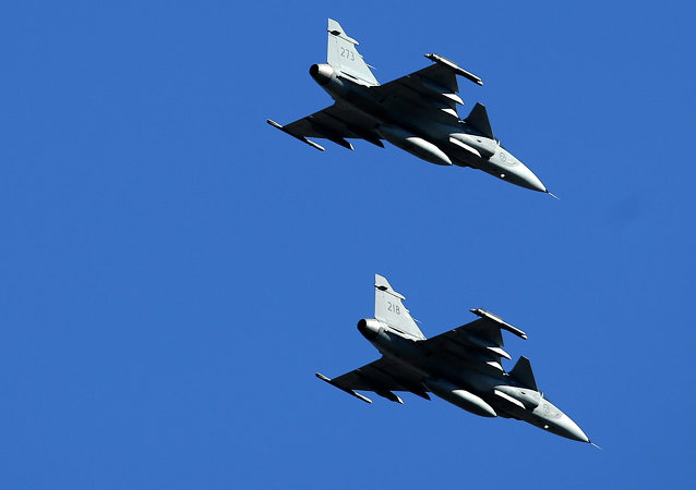 Swedish Air Force JAS-39 Gripen fighters