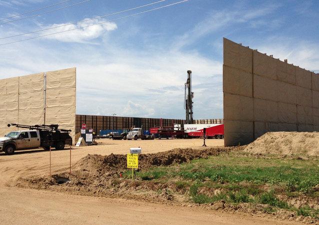 Hydraulic fracking site