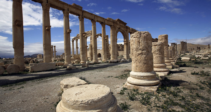 A file picture taken on March 14, 2014 shows a partial view of the ancient oasis city of Palmyra, 215 kilometres northeast of Damascus. ISIL fighters advanced to the gates of ancient Palmyra on May 14, 2015