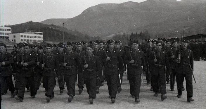 A unit of Ustashe in Sarajevo