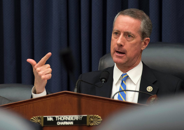 House Armed Services Committee Chairman Rep. Mac Thornberry, R-Texas, questions Defense Secretary Ash Carter as he testifies on Capitol Hill in Washington, Wednesday, March 18,2015