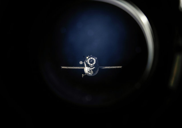 The unpiloted Russian ISS Progress 50 (50P) resupply ship undocks from the International Space Station's Pirs Docking Compartment