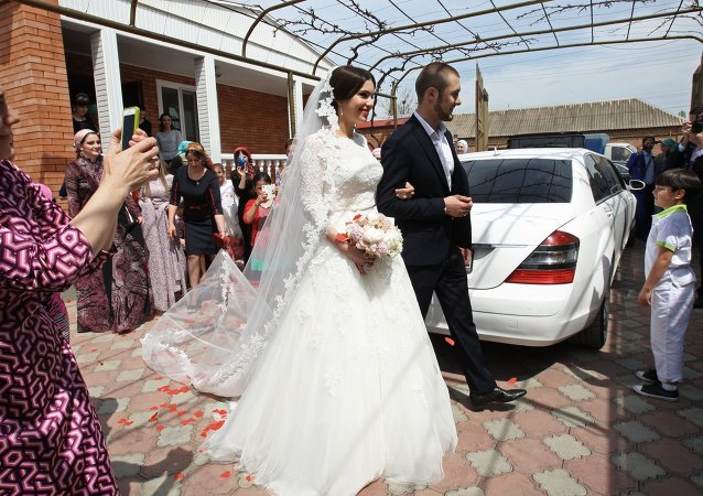 Traditional Chechen wedding in Grozny