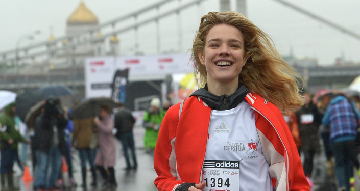 'Running Hearts': Russian Supermodel Runs Charity Marathon in Moscow