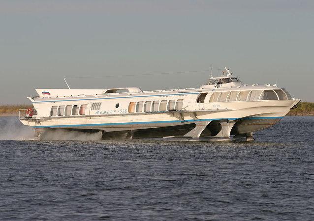 Meteor hydrofoil boat
