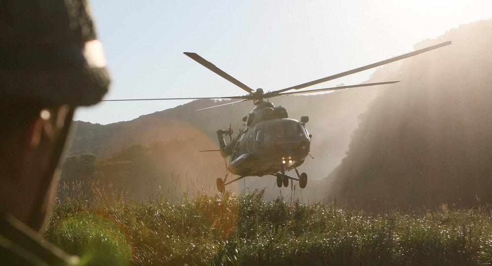 Airborne exercises on Kamchatka