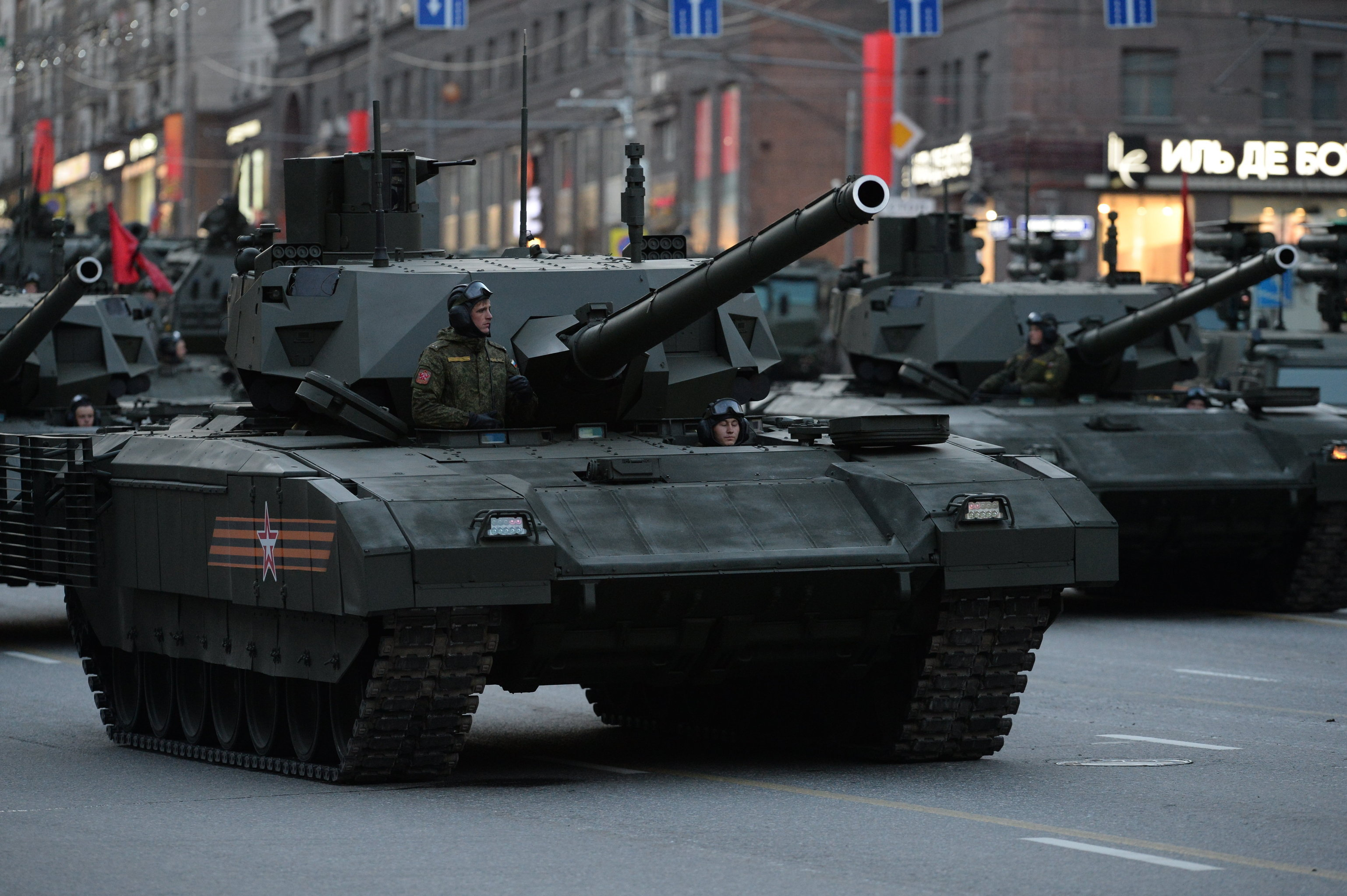 Armata T-14 during Victory Day Parade rehearsal in Moscow