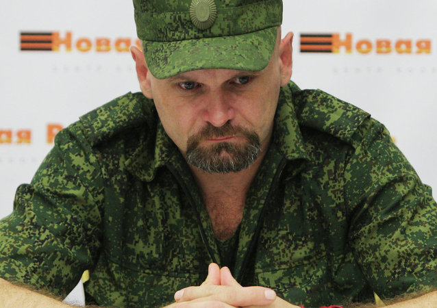 Alexei Mozgovoi, leader of the Lugansk Region Resistance (Novorossiya)