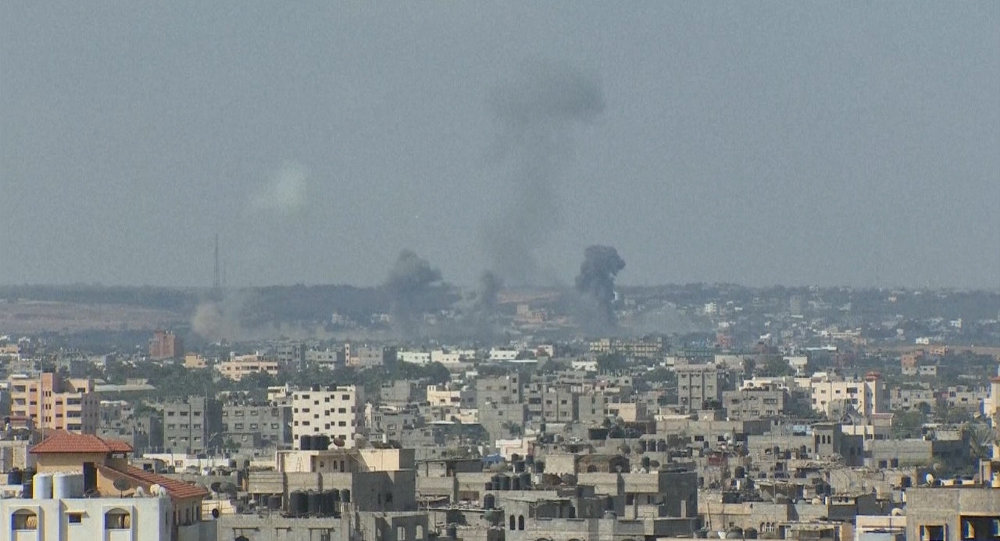 Israeli forces airstrike in Gaza Strip