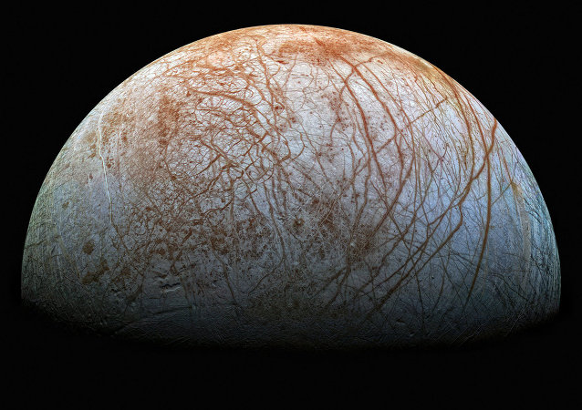 The surface of Europa is the smoothest of any solid object in the solar system and is covered with cracks and streaks, but not craters, due to its youth and tectonic activity. It is also one of the brightest and most reflective of our solar system's moons.