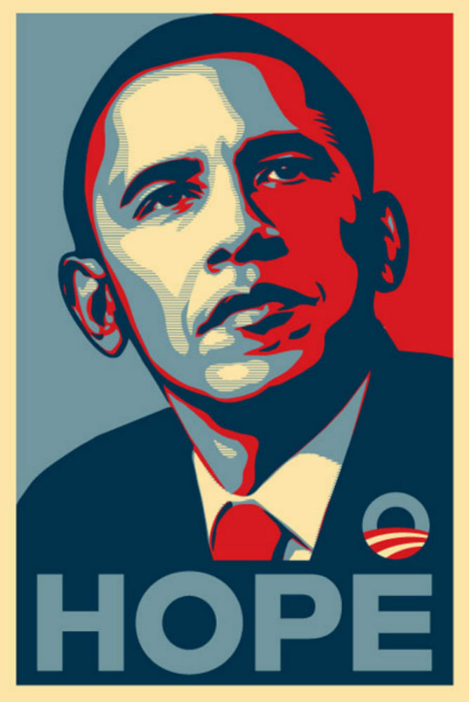 Shepard Fairey's Obama Hope Poster.