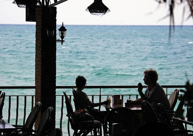 Side, Turkey. A street cafe
