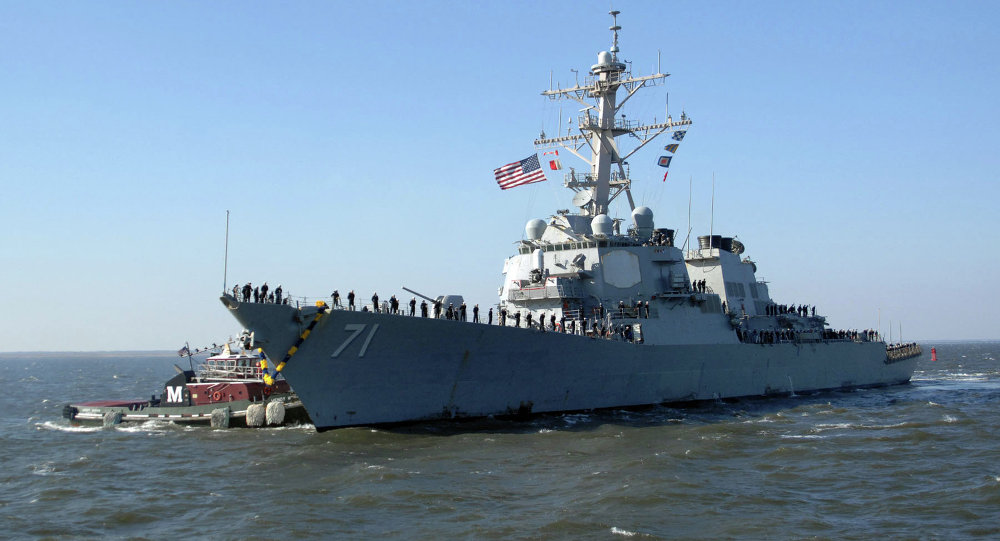 The USS Ross guided-missile destroyer left the Black Sea on Wednesday after a mission to demonstrate NATO's presence in the area, the US Sixth Fleet said in a statement.