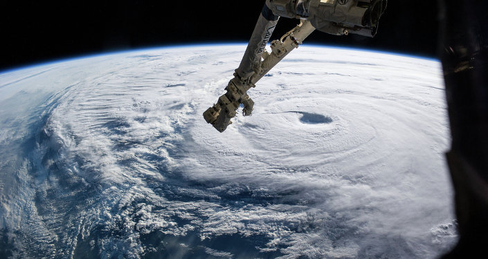 Hurricane, view from space